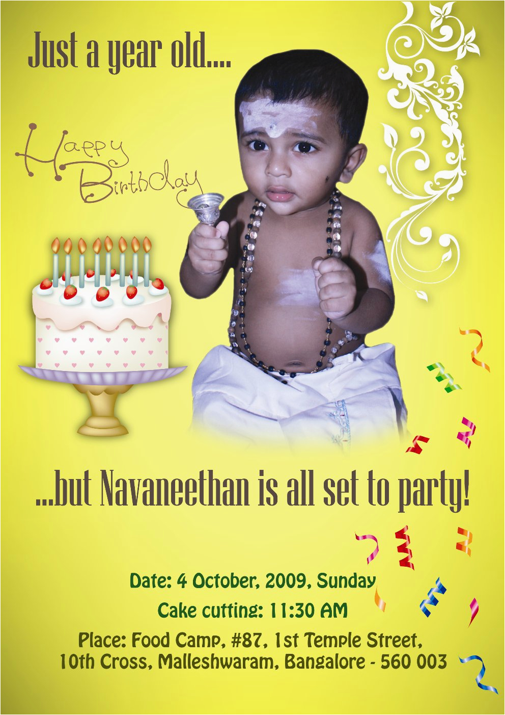 my first birthday invitation best party ideas