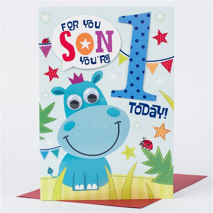 1st birthday card special son