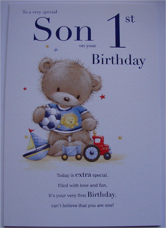 son 1st birthday card age one 7808