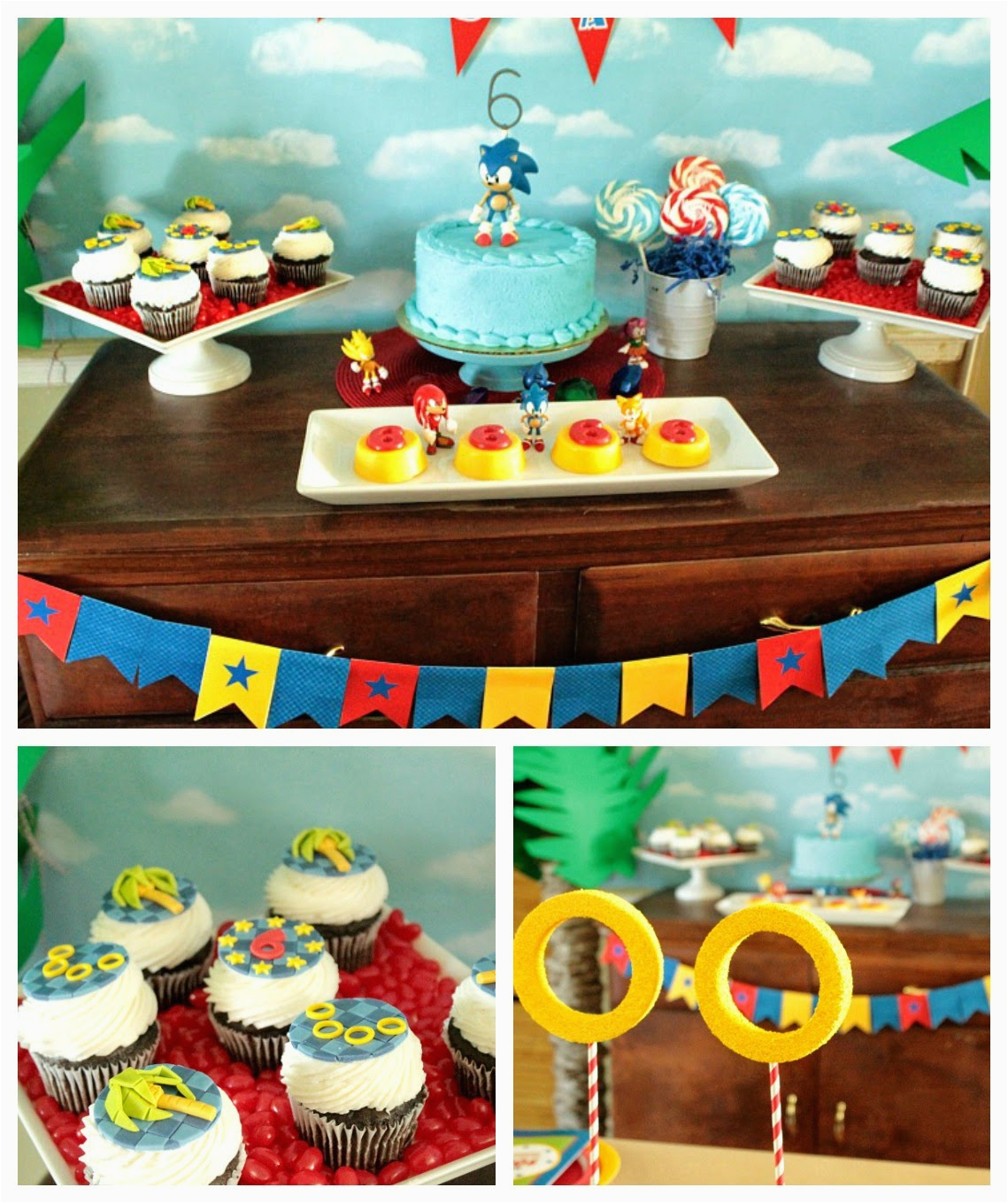 Sonic Birthday Party Decorations Cupcake Wishes Birthday Dreams Real Parties Adam 39 S