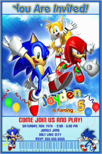 sonic invitation sonic the hedgehog birthday invitation printable file 1