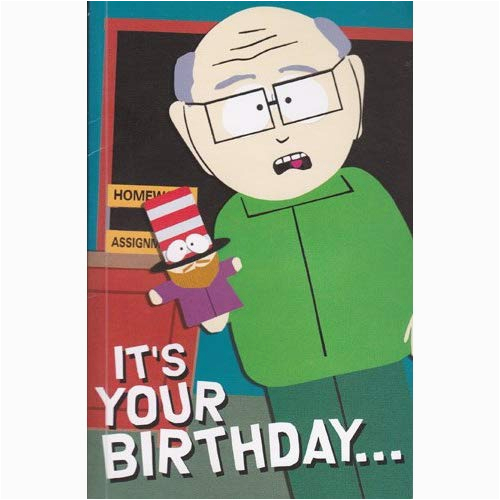 greeting card birthday card with sound south park its