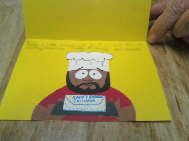south park chef greeting card 178246666