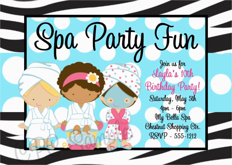 Spa Birthday Party Invitations Printables Free Printable Home Ideas