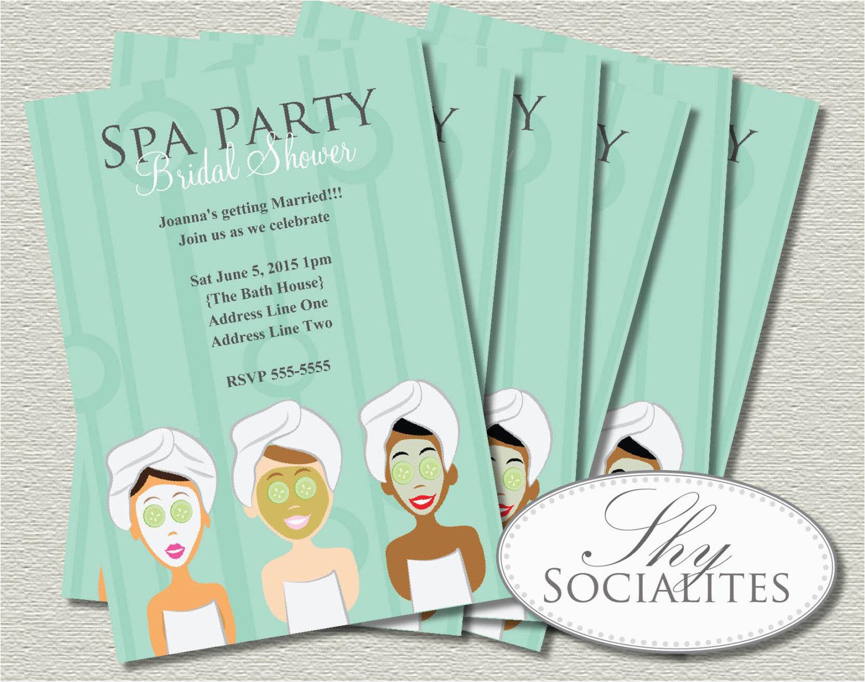 spa party invitation pedicure pamper