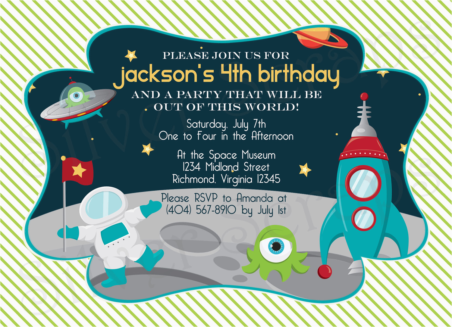 Spaceship Birthday Invitations Party For Boys Free Invitation