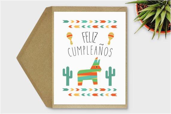 feliz cumpleanos card spanish birthday card printable