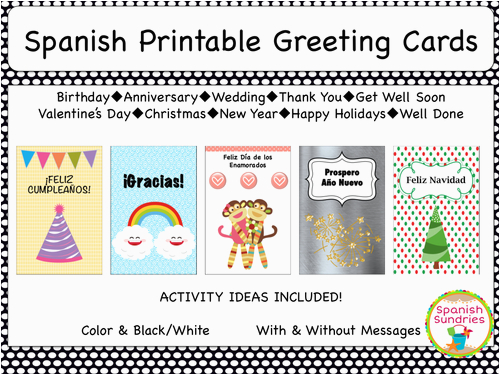 spanish greeting cards by sombra1230 teaching resources