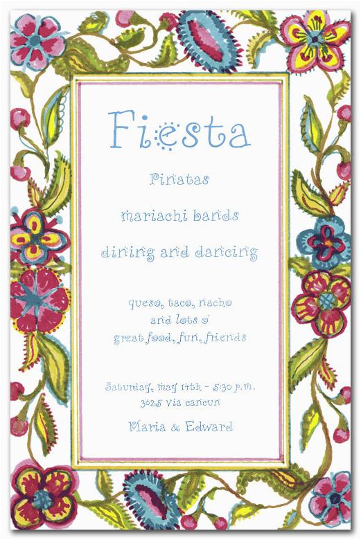 spanish crewel party invitations by invitation