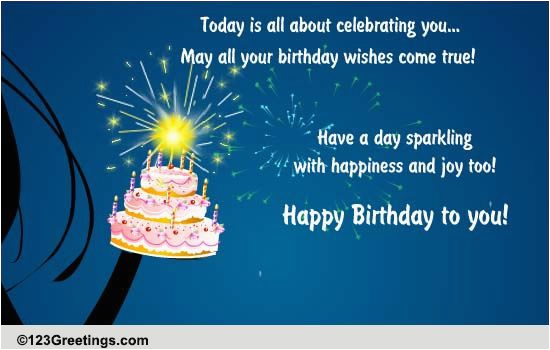 Sparkling Birthday Greeting Cards Wishes Free Ecards
