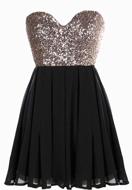 glitter fever dress black gold sequin party dresses
