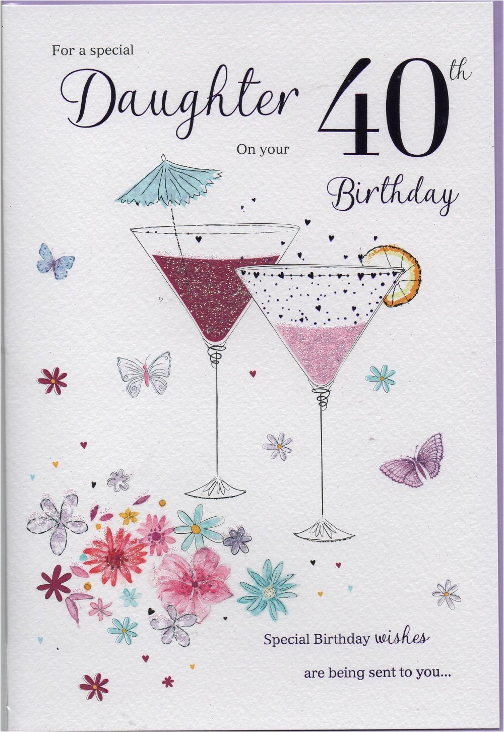 Special 40th Birthday Gifts For Her A Daughter On Your Card