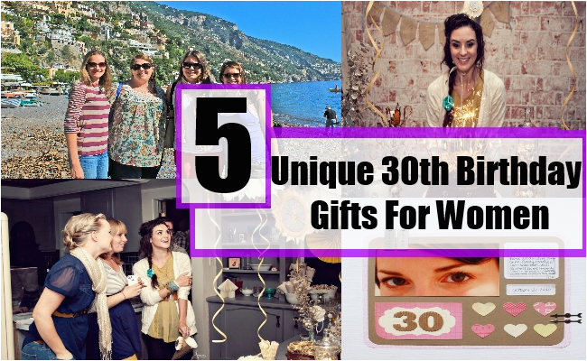 unique 30th birthday gifts for women gift ideas for a