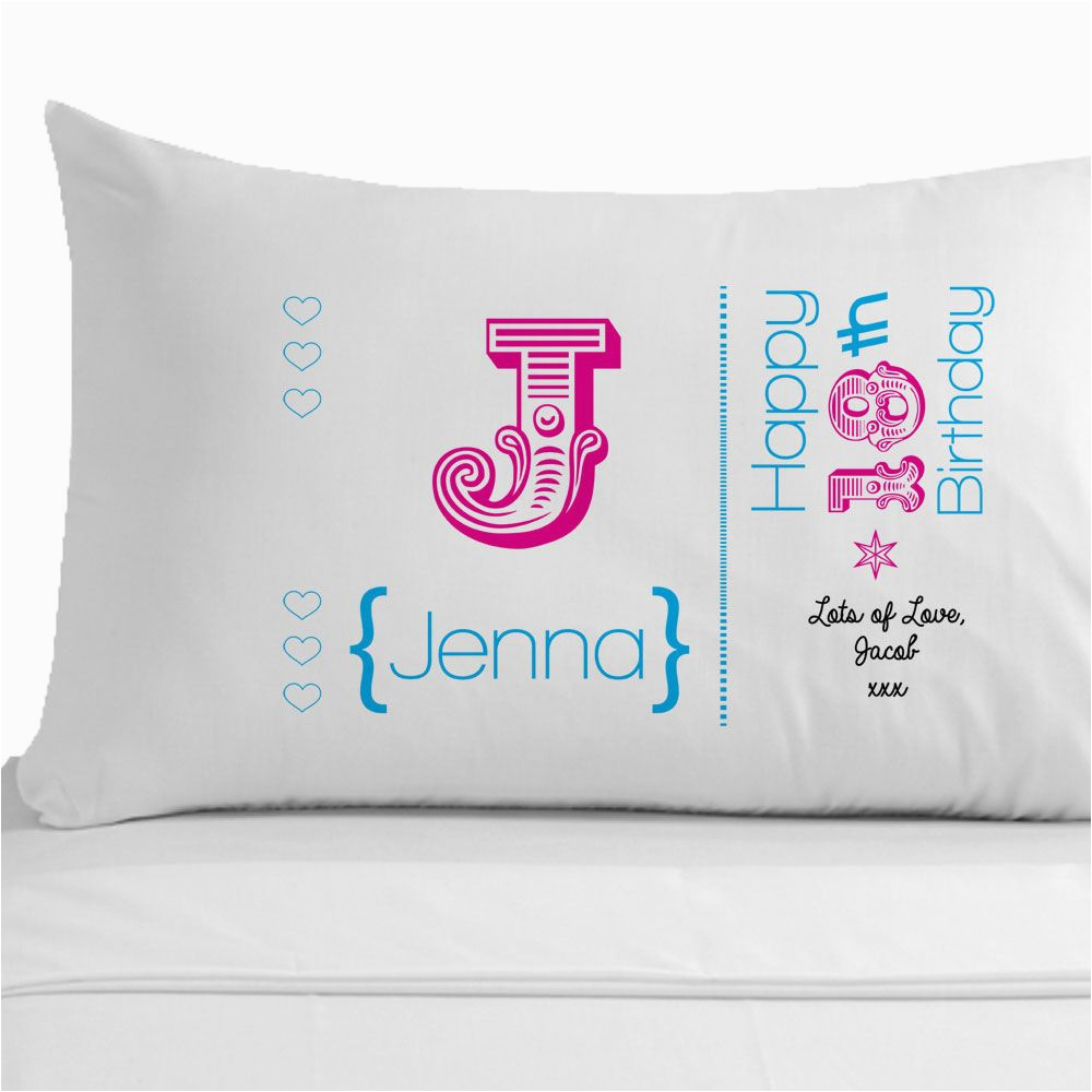 womens personalised 60th birthday pillowcase unique 60th