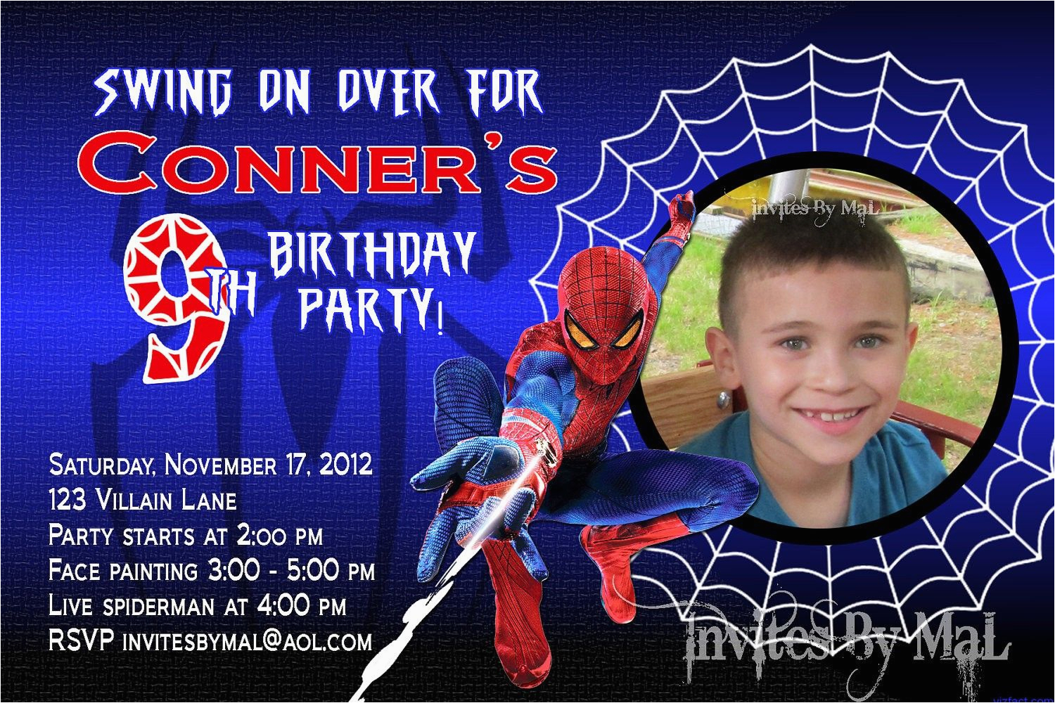 Spiderman Birthday Invitations With Photo Invitation Template Free Everything