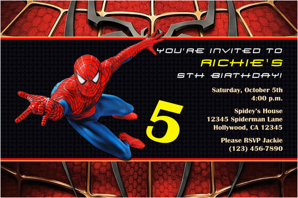 Spiderman Birthday Invites Spiderman Invitations General Prints