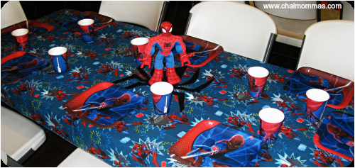 mermaid and spiderman birthday party