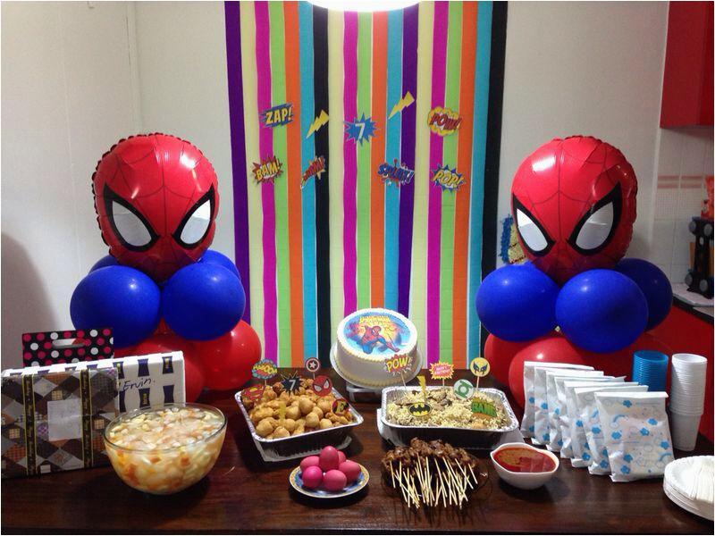 spiderman birthday party decorations