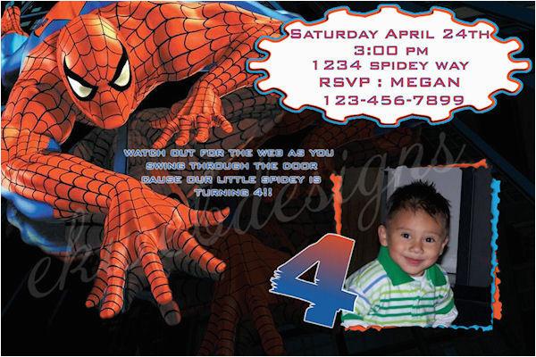 custom birthday invitation spiderman printable