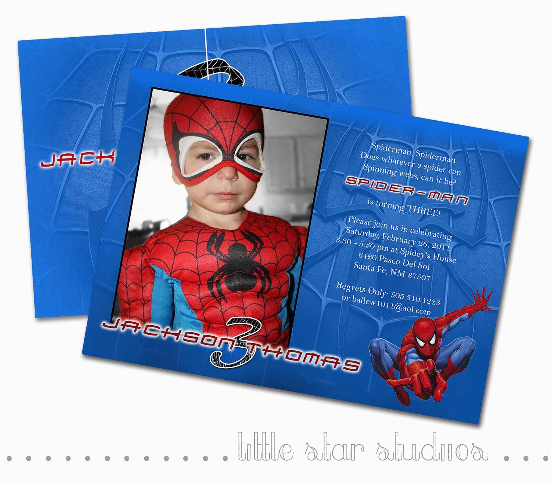 spiderman custom photo birthday