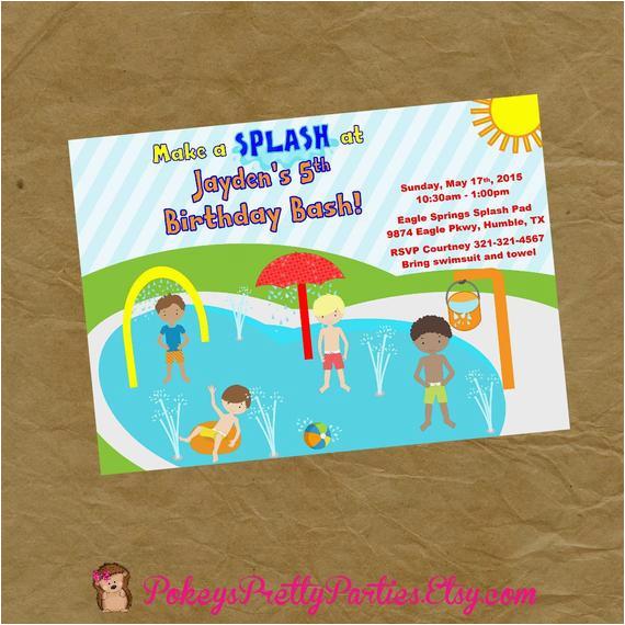 new boys splash pad birthday party