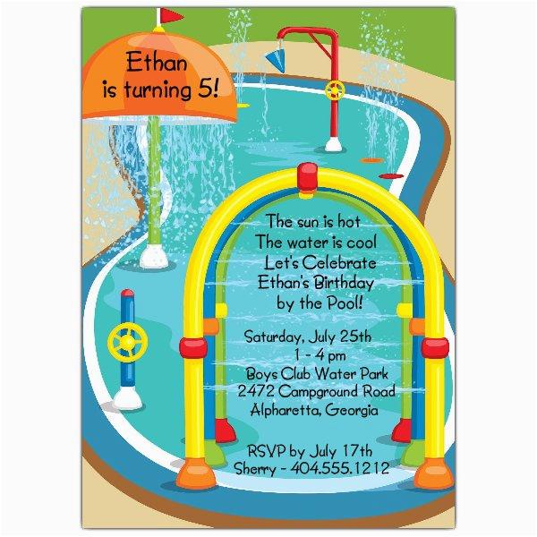splash pad pool party invitations p 643 57 1012