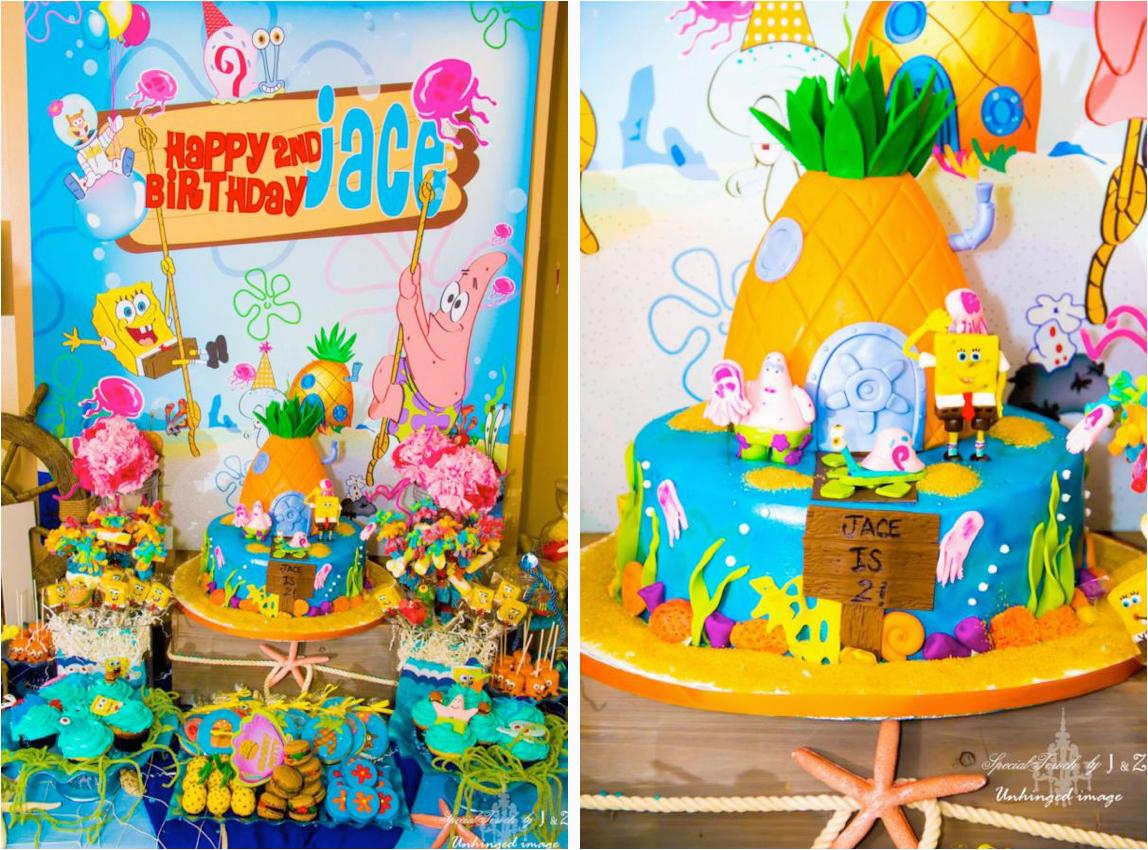 spongebob squarepants 2nd birthday party
