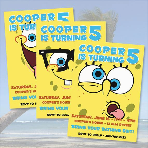 Spongebob Squarepants Birthday Invitations 40th Birthday Ideas