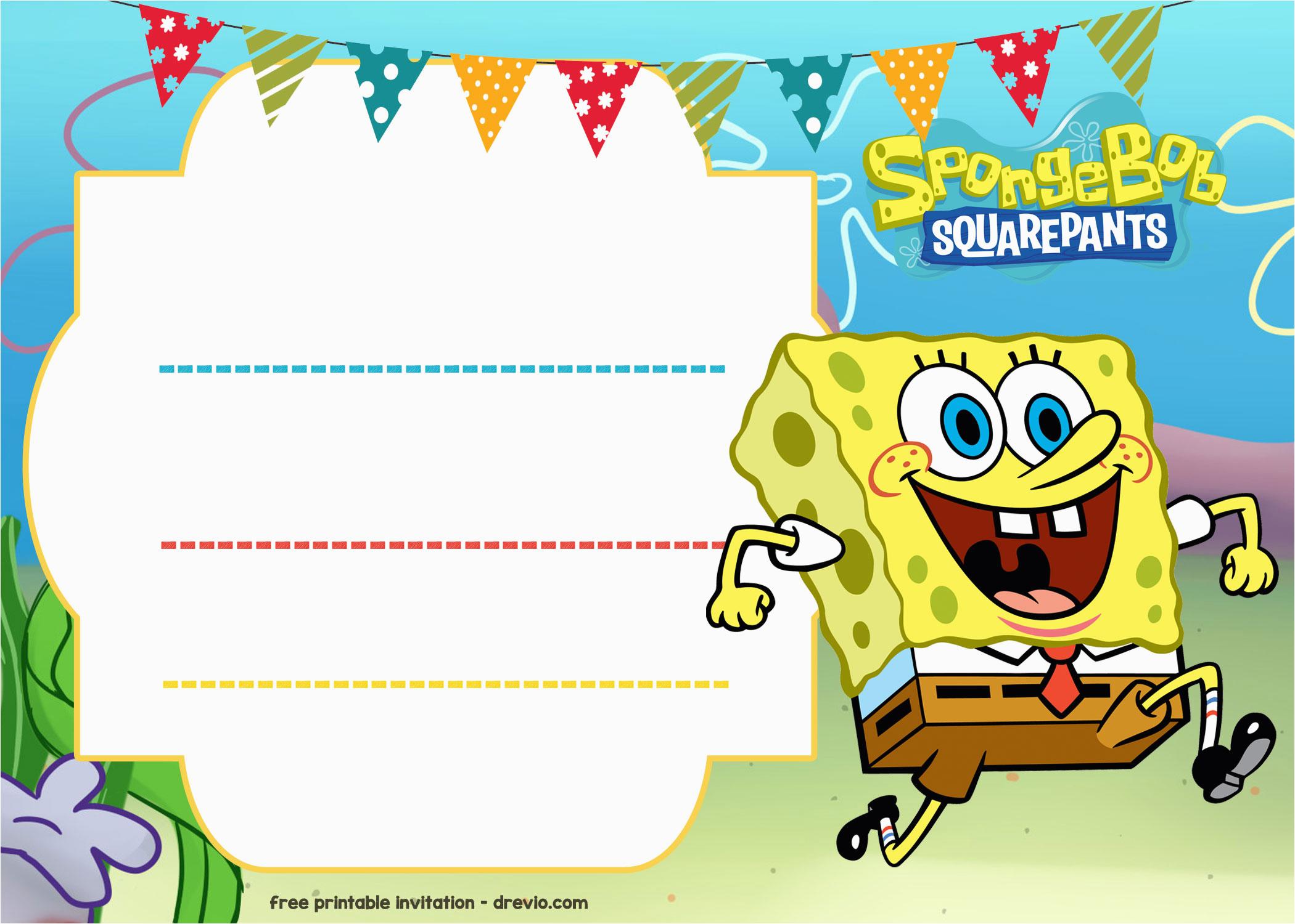 Spongebob Squarepants Printable Birthday Invitations Free ...
