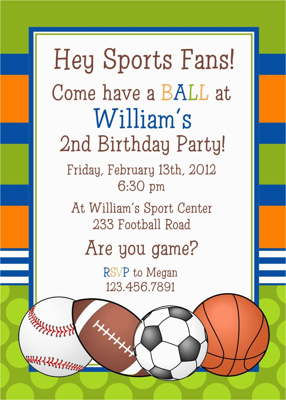 sports birthday invitations template