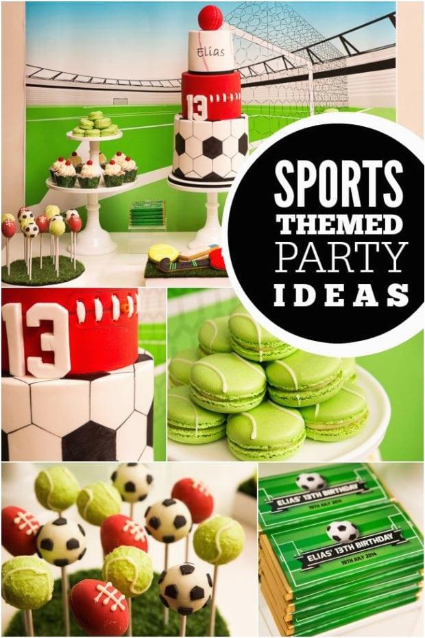 all star sports boy birthday party