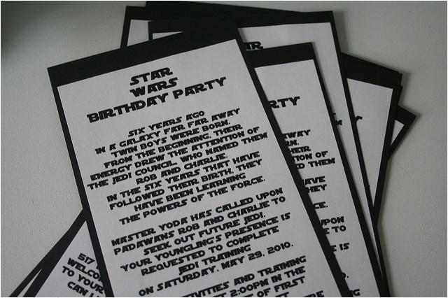 Star Wars Birthday Invitation Wording Party Flickr Photo Sharing
