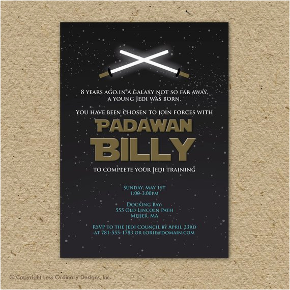 Star Wars Birthday Invitation Wording Party By