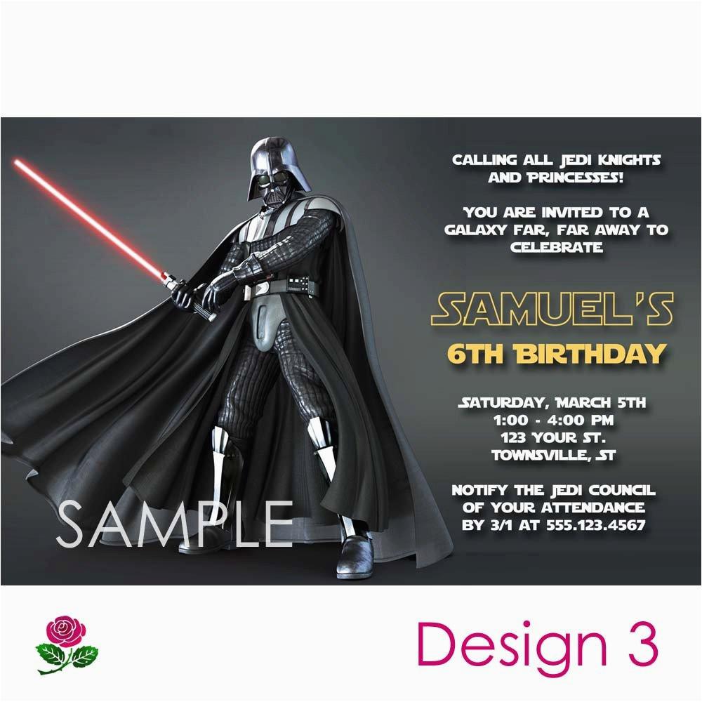 Free Printable Star Wars Birthday Invitations