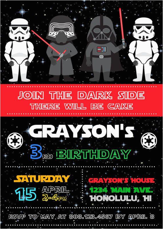 Star Wars Birthday Invitations Online Free Bagvania