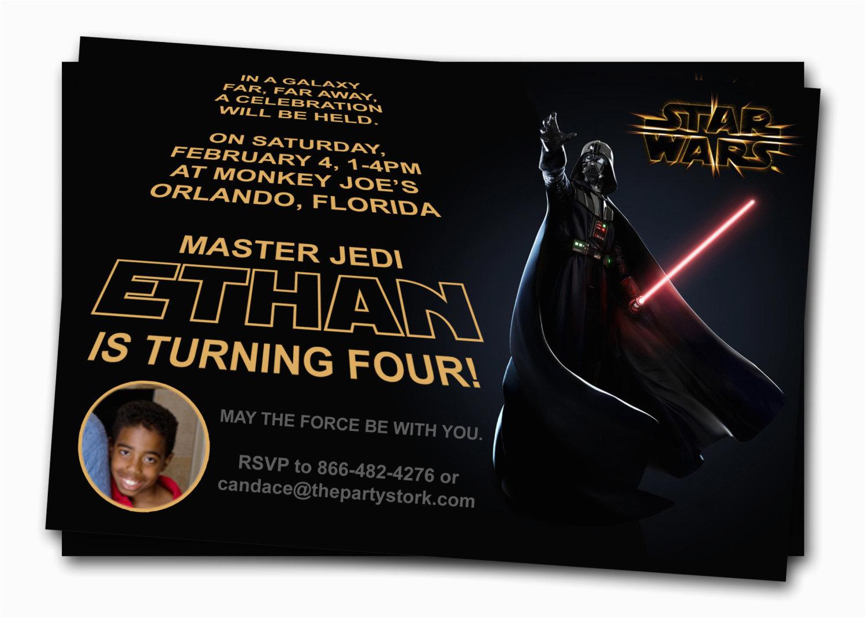 Star Wars Photo Birthday Invitations Free Printable Star Wars Birthday Invitations Drevio