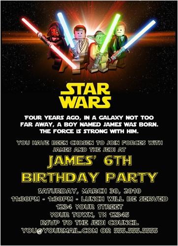 Star Wars Photo Birthday Invitations Free Printable Template