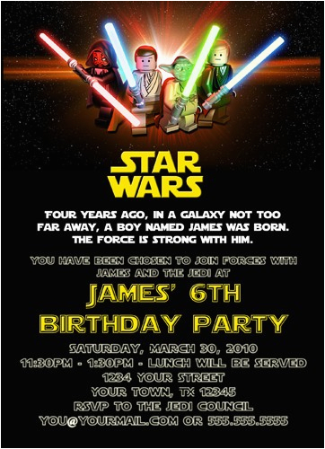 Star Wars Themed Birthday Party Invitations Free Printable Template