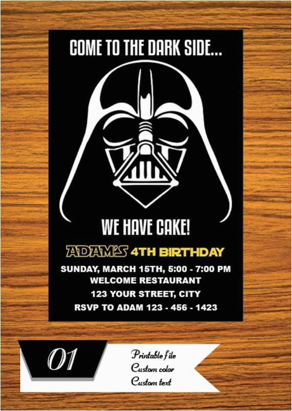 Star Wars Themed Birthday Party Invitations Invitation