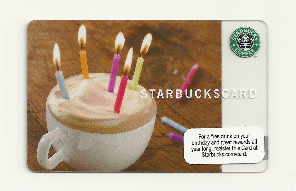 starbucks gift card 2009 happy birthday new unused ebay