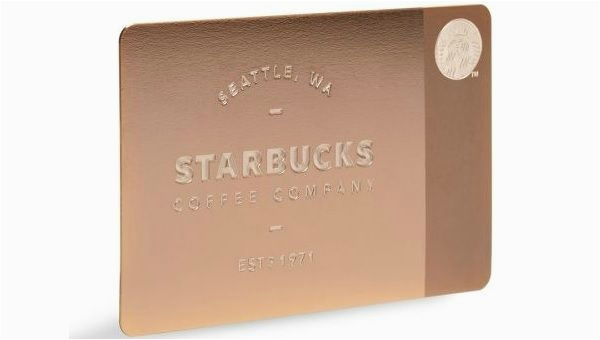 Starbucks Gold Card Birthday Reward Customer Loyalty Coffee Cards 450 Gift