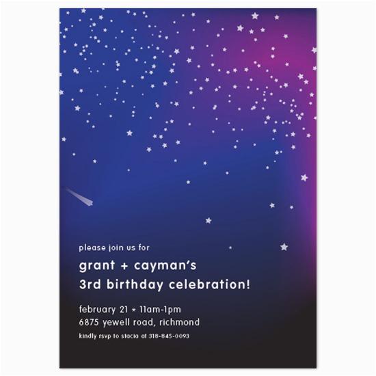 Starry Night Birthday Invitations Birthday Party Invitations Starry Night at Minted Com