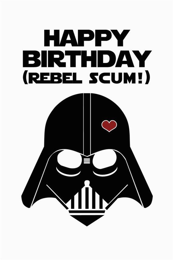 star wars funny birthday card diy