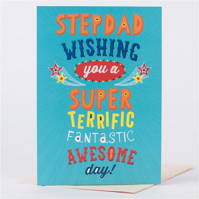 birthday card birthday card super step dad