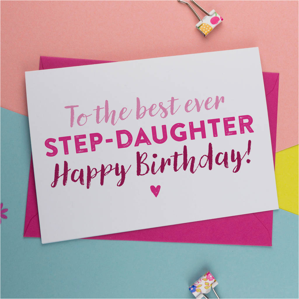 Step Daughter Birthday Cards Best Step Daughter Birthday Card by A is for Alphabet