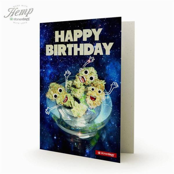 birthday nugs hemp card stonerdays