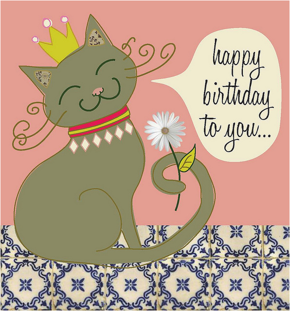 cat with crown birthday card flickr photo sharing