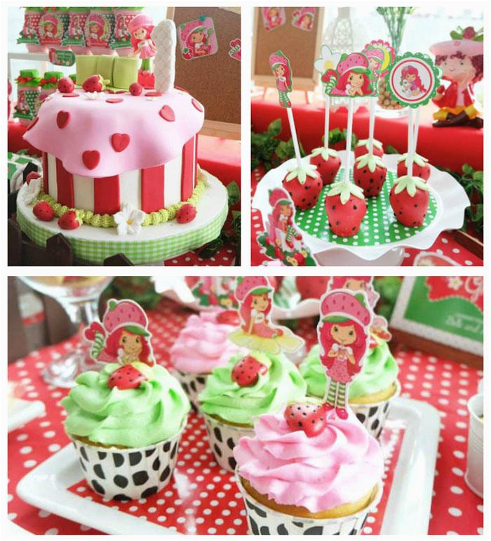 Strawberry Shortcake Birthday Party Decorations Kara 39 S Party Ideas Strawberry Shortcake Birthday Party
