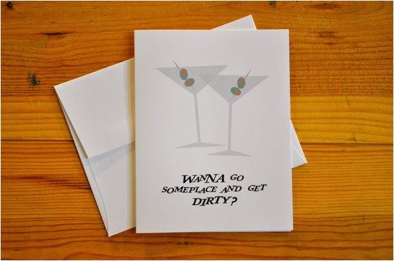 dirty martini suggestive greeting card