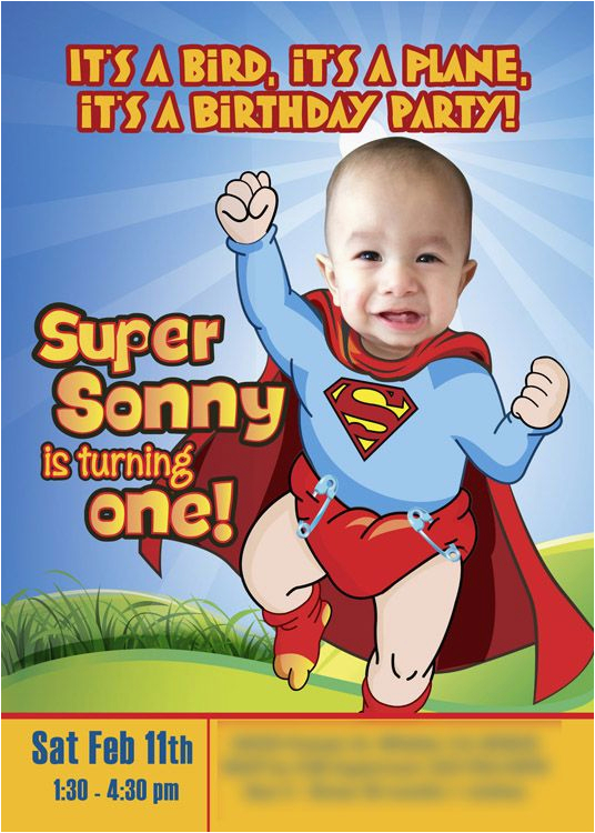 baby superman invitation with your little boy as super